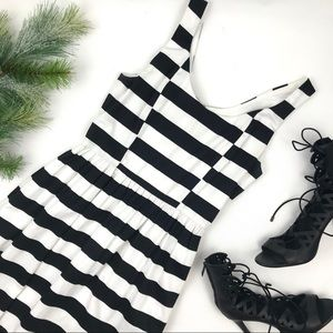 Black and white striped dress-size small